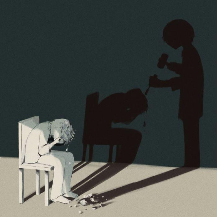 Этот художник иллюстрирует чувства, которые трудно выразить словами