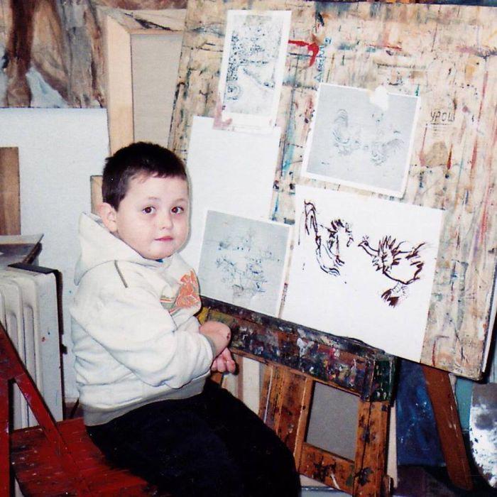 Я знал, что хочу быть художником, с 2-х лет, и вот что я нарисовал в 16