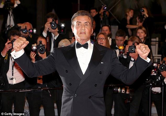 72-летний Сильвестр Сталлоне приехал на премьеру «Рэмбо 5» в Каннах