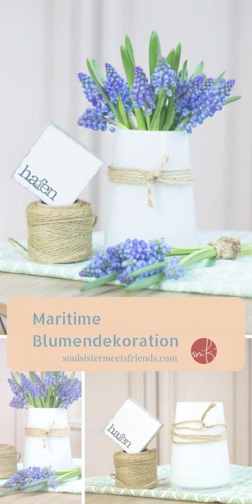 Maritime Blumendeko: in 5 Minuten fertig!