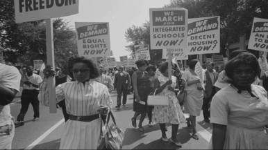 """June 22: Through the personal stories of several former black female Civil Rights activists, Reflections Unheard: Black Women in Civil Rights unearths the lesser-known story of black women's political marginalization between the male-dominated Black Power movement, and the predominantly white and middle class Feminist movement during the 1960s and 70s, as well as the resulting mobilization of black and other women of color into a united Feminist movement. - Written by Nevline Nnaji Reflections Unheard was awarded """"Best Film on Matters Related to the Black/Marginalized Experience"""" by the Black International Cinema Berlin Film Festival in 2014. This Event is part of #BLMmonth2017 a month long program to connect existing spaces, resources and contacts to organize joint resistance. Film and Q&A - in English no subtitles 