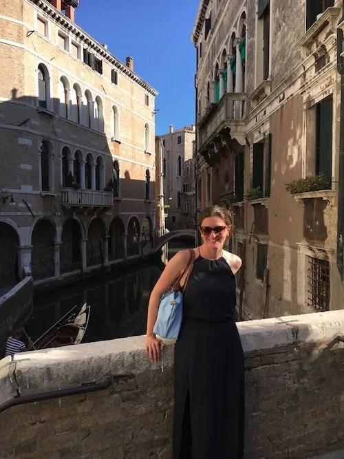 Me posing in Venice.
