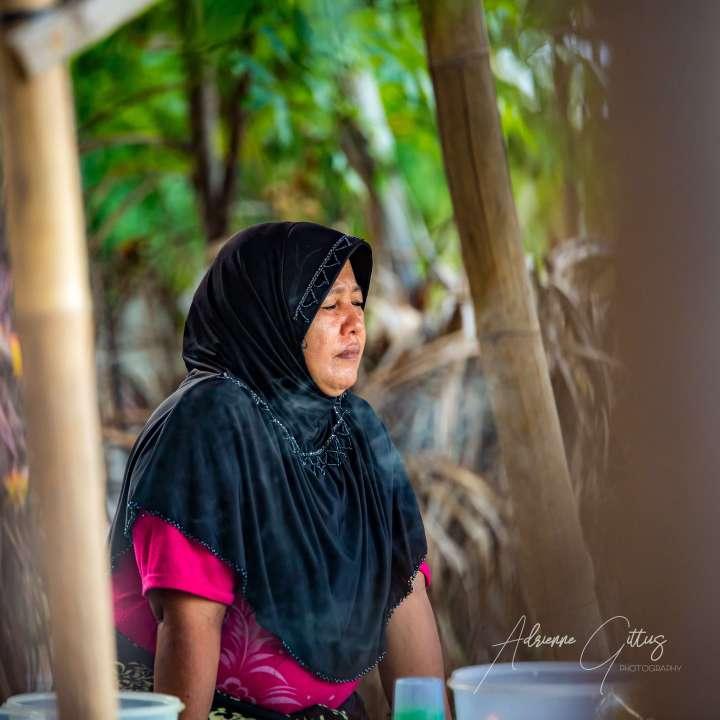 Indonesian muslim woman in head scarf