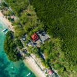 hindu temple, nusa lembongan, Bali, Indonesia, drone, aerial, mangroves, green, lush