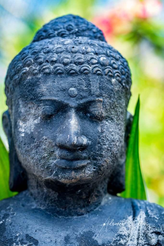 Twin Islands Resort, garden balinese stone statue, Indonesia