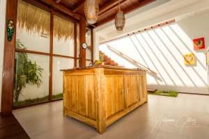 Gili Air Sanctuary, Indonesia, open plan kitchen, wood, spacious