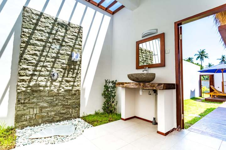 Gili Air Sanctuary, bathroom, open air, Indonesia