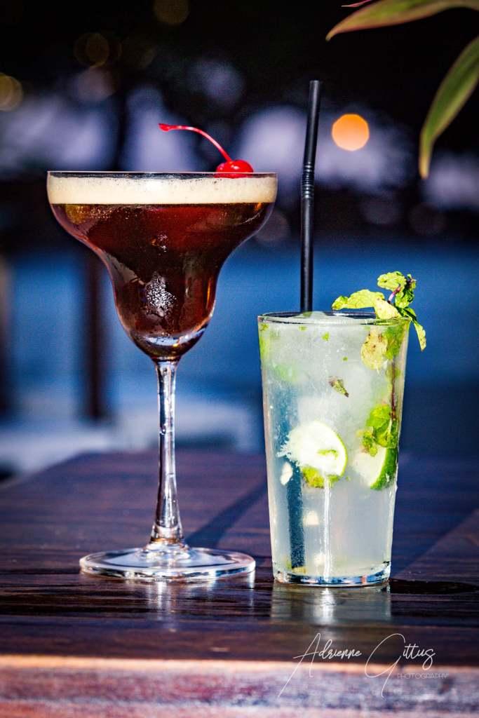 Gili Teak Restaurant, cocktails, mojito, espresso martini