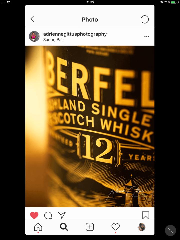 Single malt whisky Aberfeldy