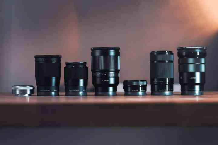 Different types of interchangeable lenses for DSLR cameras