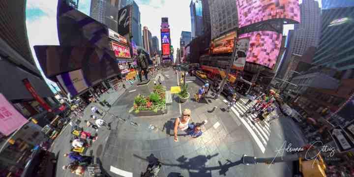 Times Square, New York City, 360 panoramic
