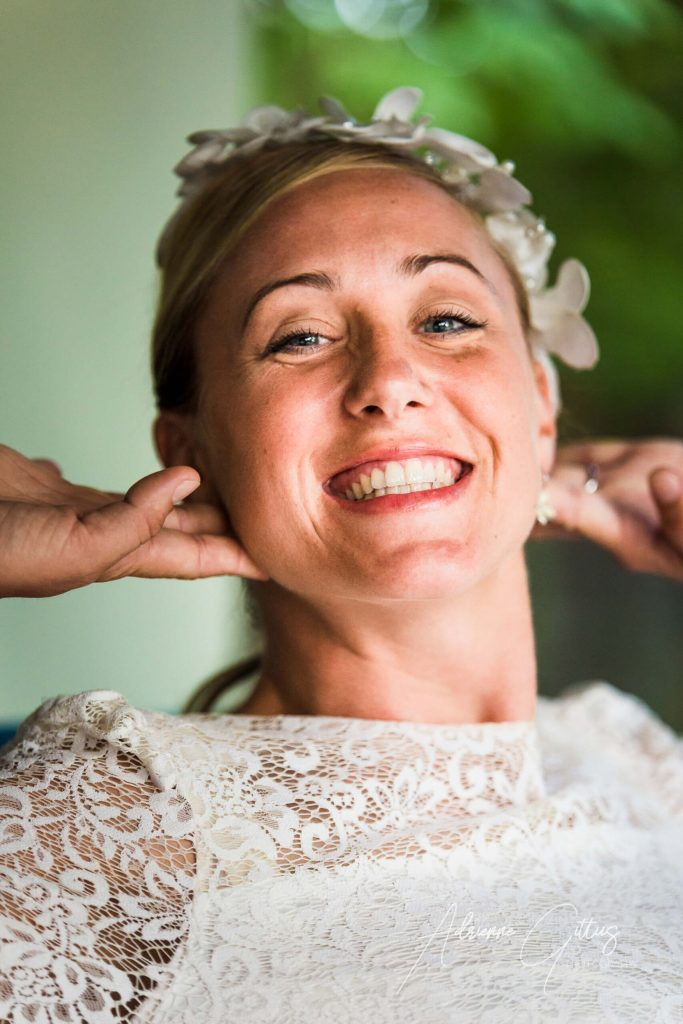Smiling bride, flowers, wedding, love, marriage, romatic, wedding photography