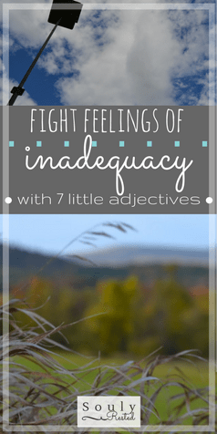 fight feelings of inadequacy