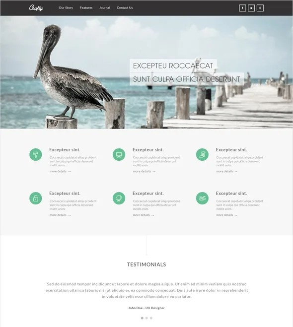 resiponsive template crafty