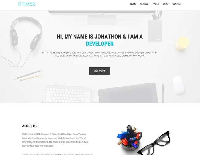 Timer Multipage Agency Template