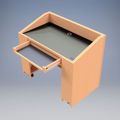 Keyboard drawer on The Accommodating