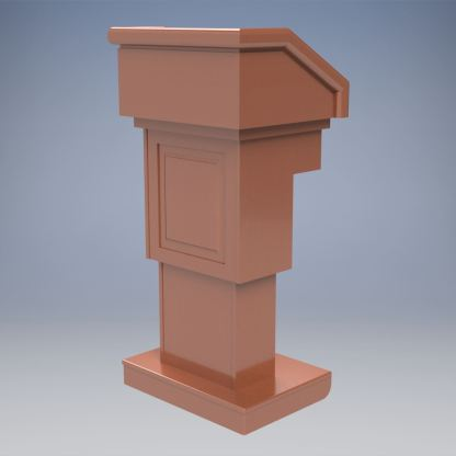 The Keynote Executive Traditional Lectern with Height Adjustment