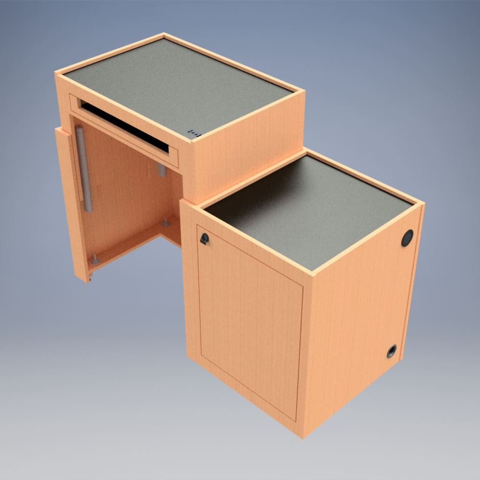 Sit Stand Desk in the Stand position
