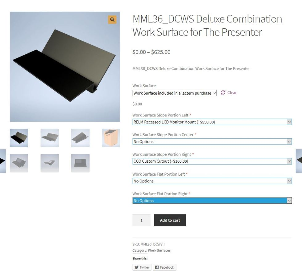 DCWS Product Page How do I purchase a podium online