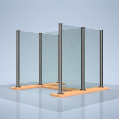 "plexiglass desk shield ""H"""