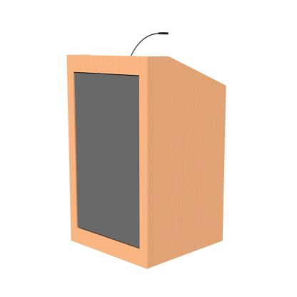 podium build around large monitor
