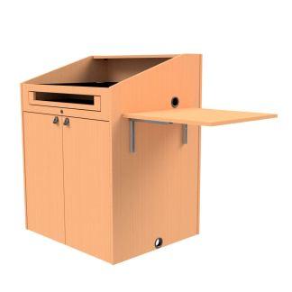 folding shelf on podium for laptop or document camera