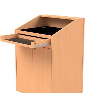 Keyboard drawer on the teacher