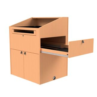 document camera drawer on podium
