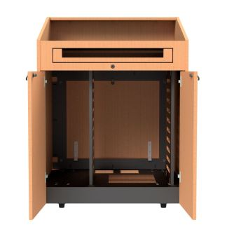 partitions without rack rails in podium