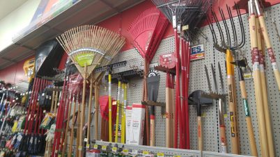 Rakes, shovels, hoes, and more