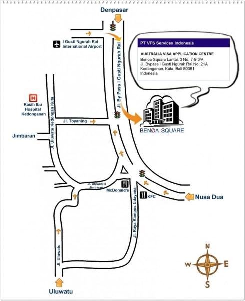Схема проезда к визовому центру