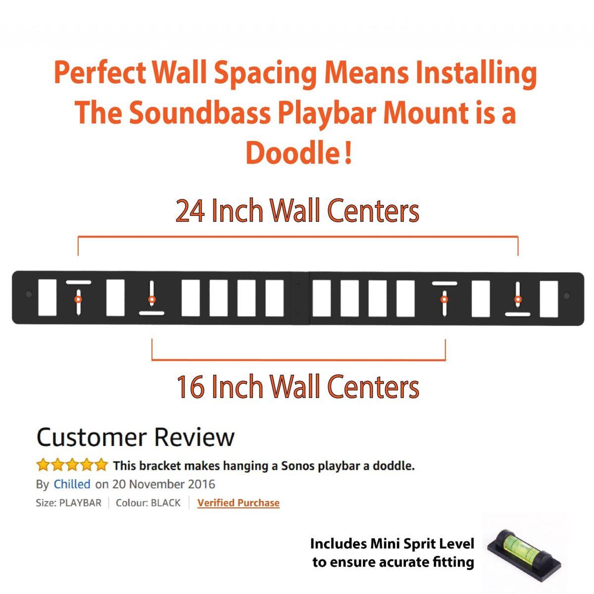 SOUNDBASE SONOS PLAYBAR WALL MOUNT-01