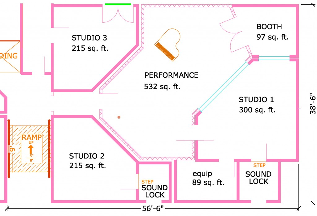 Floor Plan For Multiple Room Facility : Steven Klein's