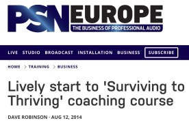 Lively start to 'Surviving to Thriving' coaching course