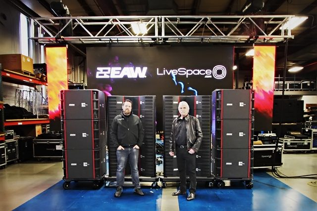 iveSpace President AJ Sweeney (left) and Owner Rich Bacans (right) with their new EAW Adaptive rig.