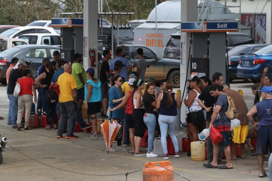 With most of the gas stations knocked out by the storm, people would get up to be there by 5 AM and stand in line for hours. Many left empty-handed (Photo by Joe Raedle/Getty Images)