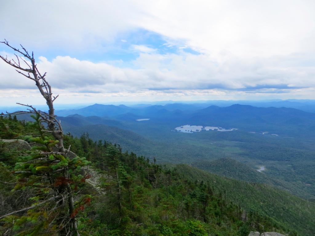Summit of Dix Mountain looking west toward Elk Lake