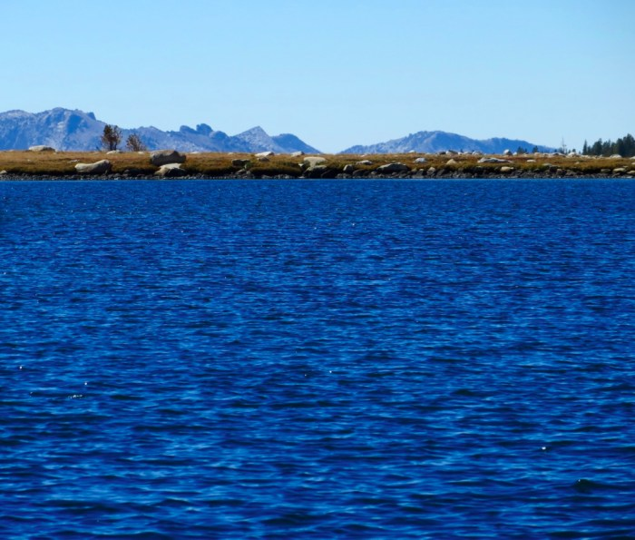 Gaylor Lake with mountains in distance