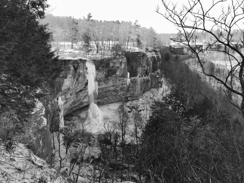 Ice Waterfalls Thacher Park