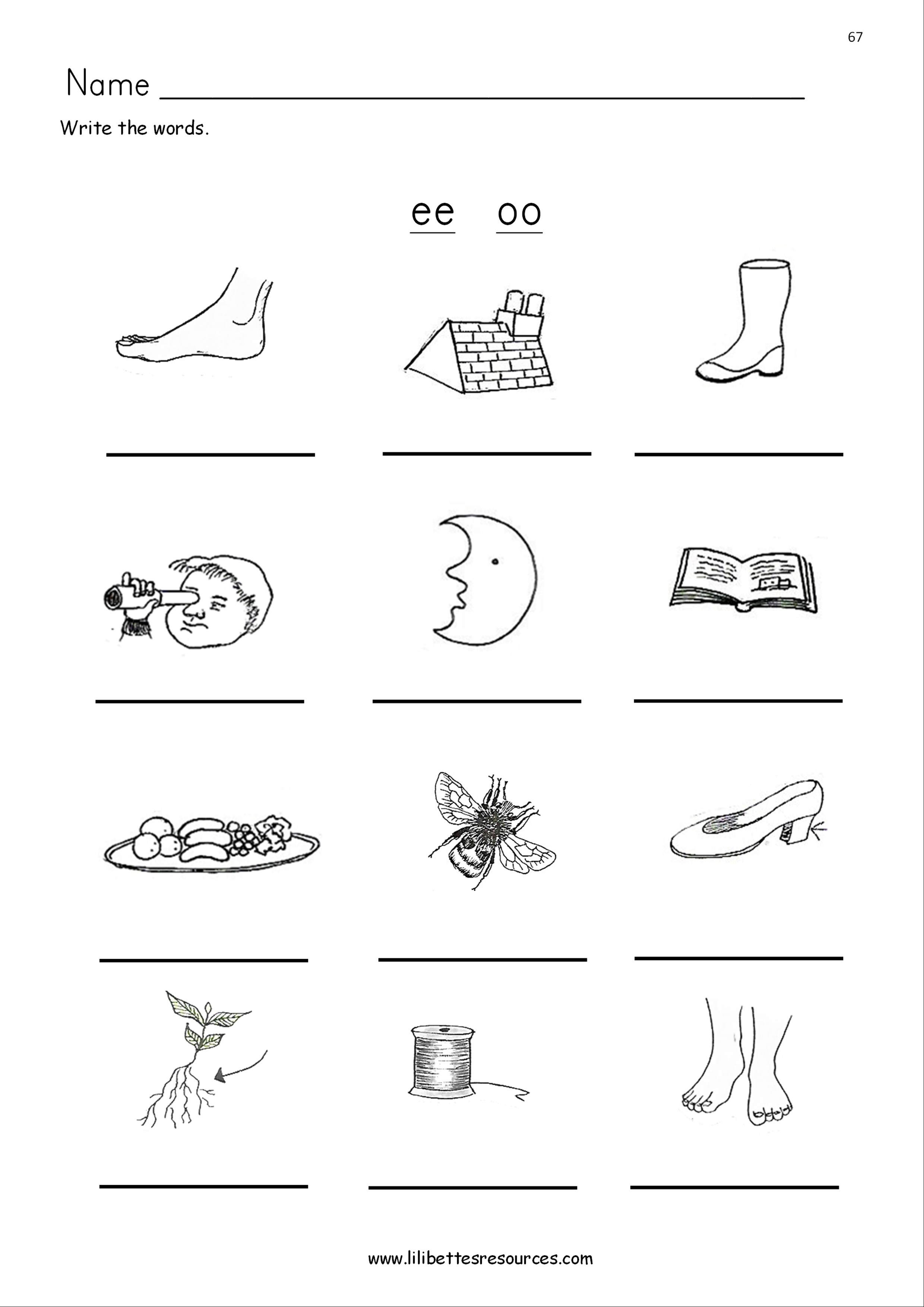 Oo Worksheets