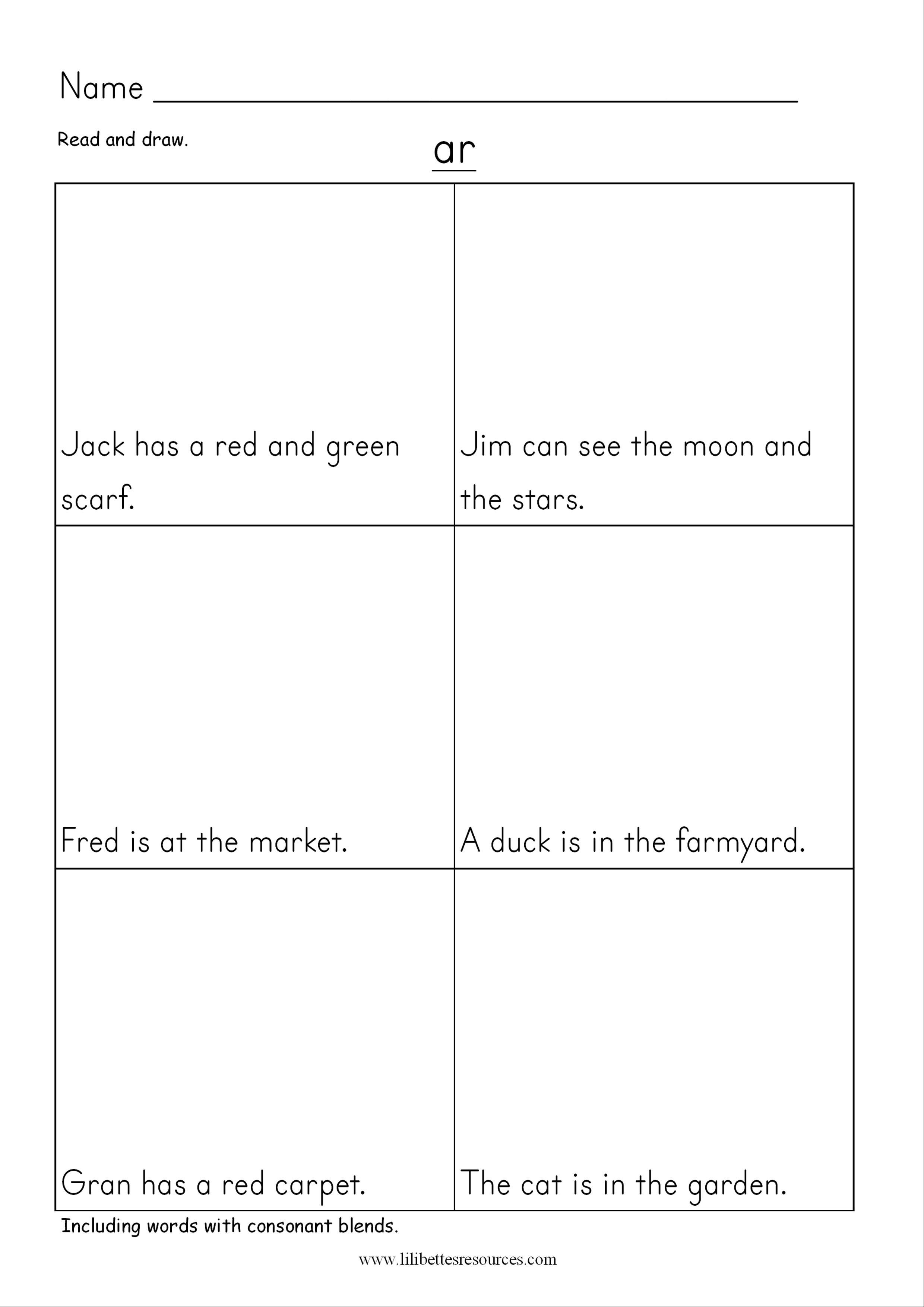 Ar Phonics Worksheets