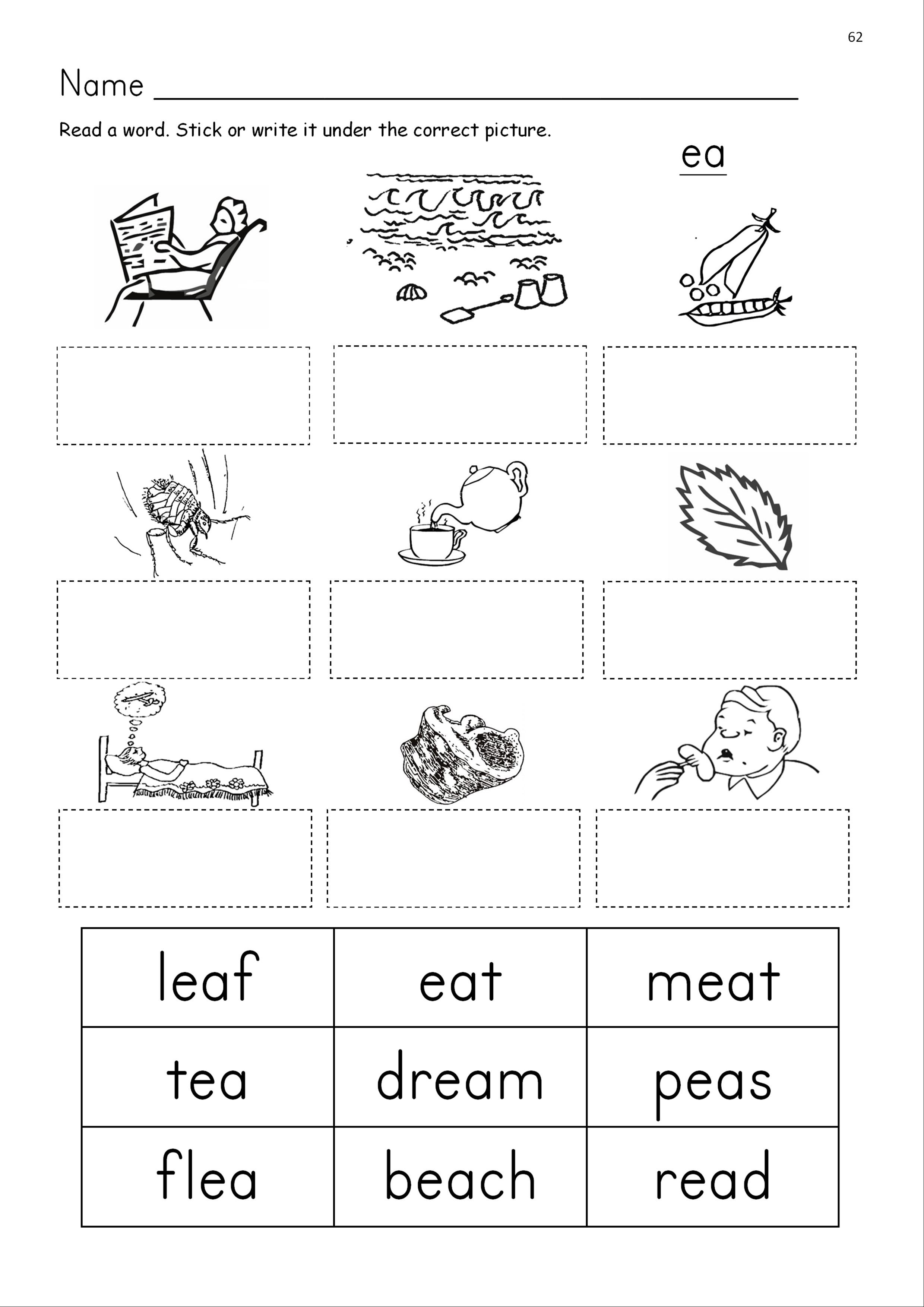 Ea Phonics Worksheets