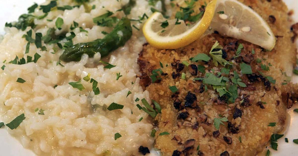Pecan-Crusted Petrale Sole