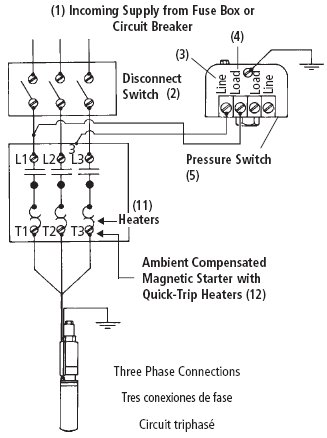 Single Phase Water Pump Circuit Diagram - Somurich.com