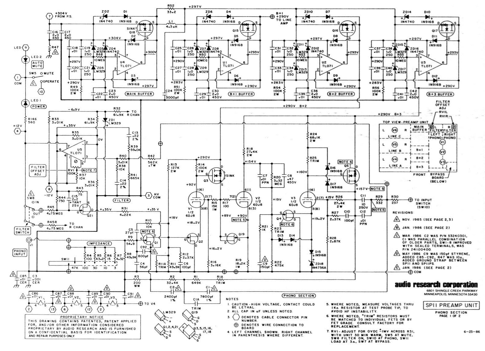 6dj8 Preamp Schematic
