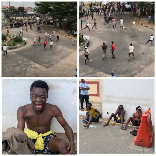yes... Gossip! *Wink* Hoodlums attempt to disrupt #EndSARS protest in Lagos (videos)