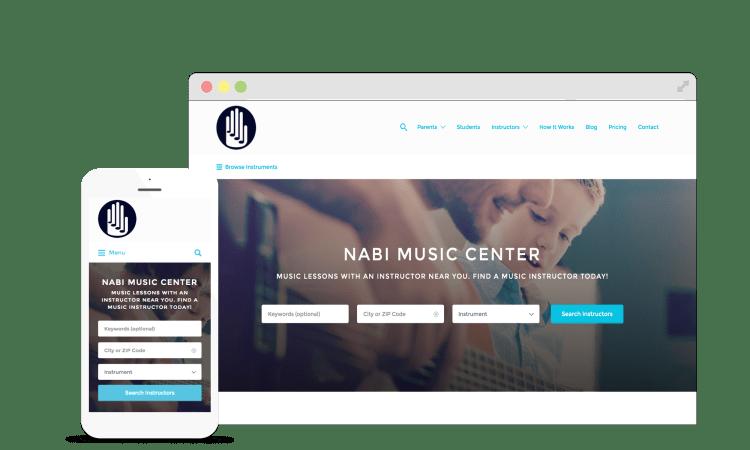 Nabi Music Center's web interface