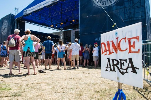 Newport Folk Festival Dance Area Sign by Jon Simmons