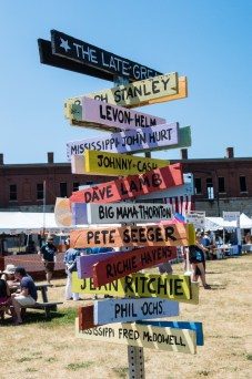 Sign at Newport Folk Festival by Jon Simmons