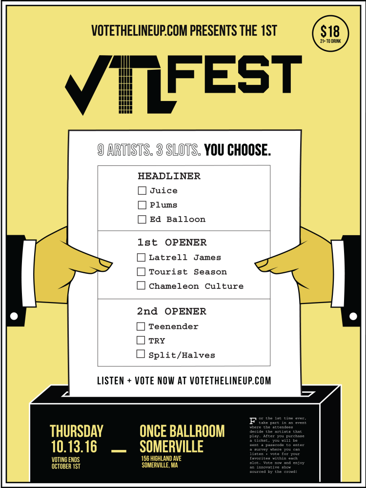 Ballot for the first VTL event